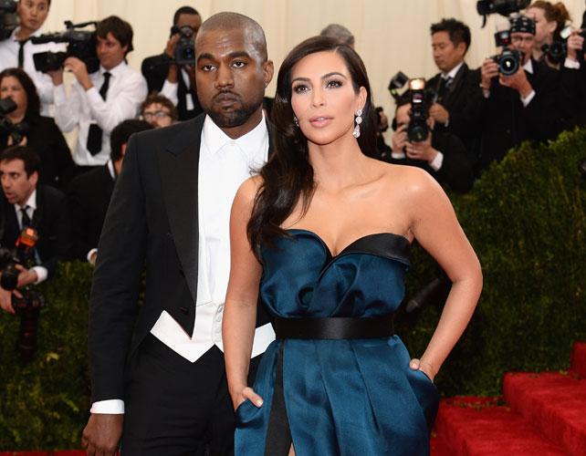 Kim Kardashian y Kanye West para articulo