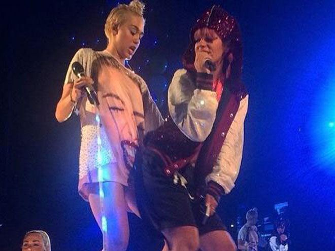 Miley Cyrus y Lily Allen