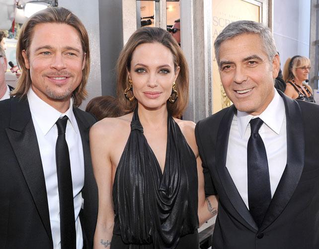 Brad Pitt, Angelina Jolie y George Clooney para articulo