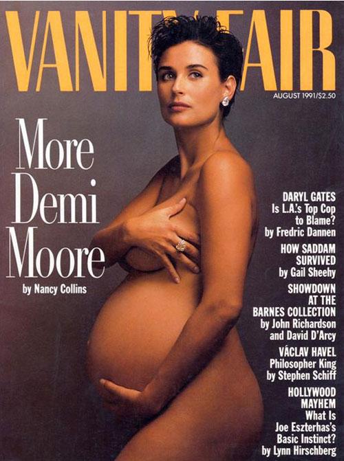 Demi Moore, embarazadas en portada