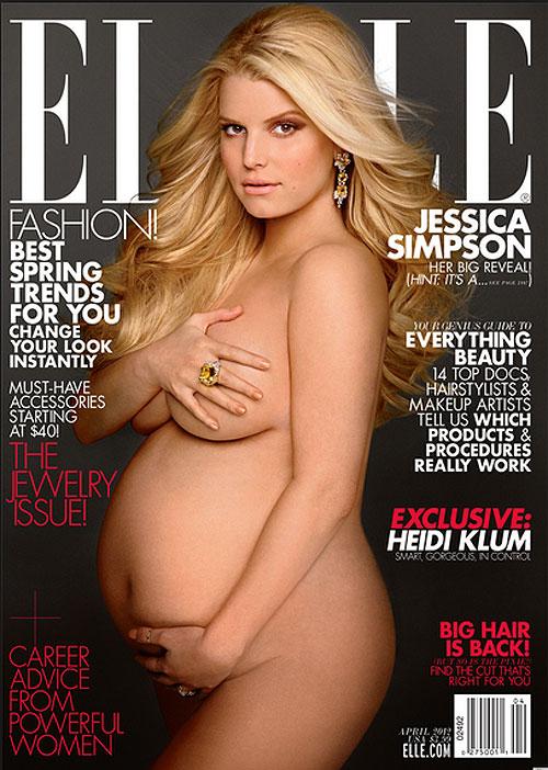 Jessica Simpson, embarazdas en portada