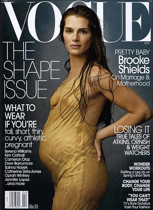 Brooke Shields, cover pregnant