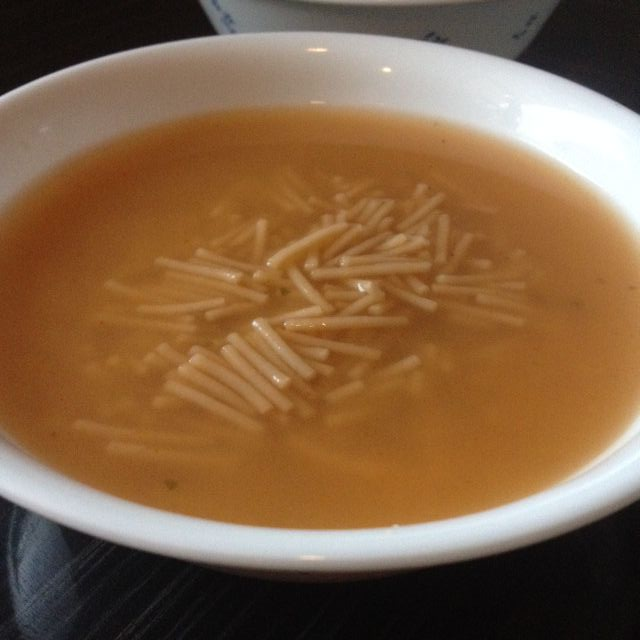 Sopa de fideo con chile