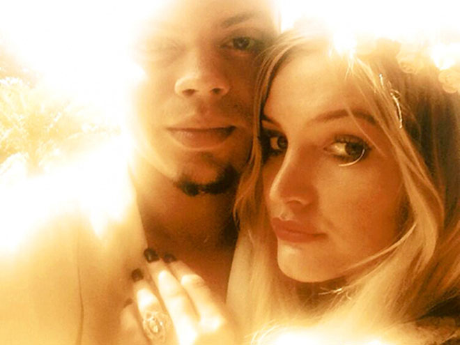 Evan Ross y Ashlee Simpson