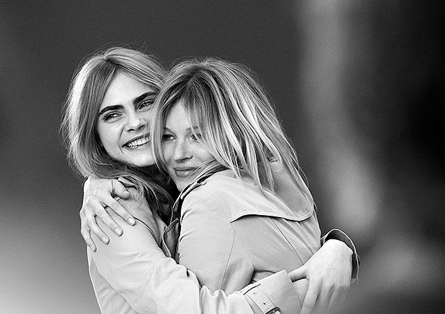 Kate Moss, Cara Delevingne, Burberry