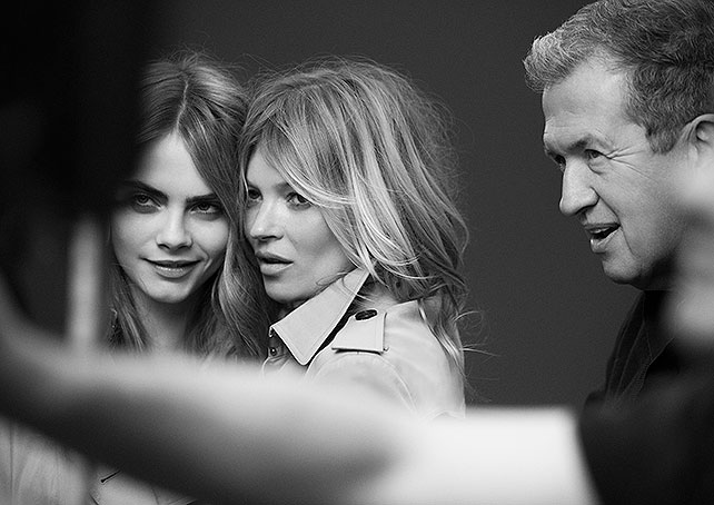 Kate Moss, Cara Delevingne, Burberry, Mario Testino