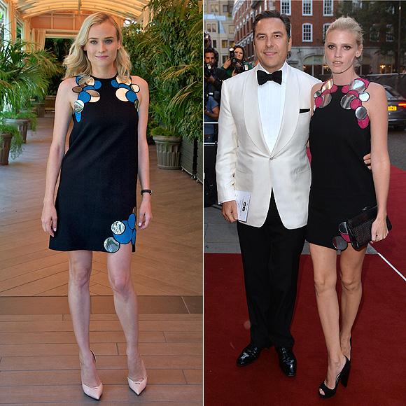 Dos mujeres un vestido, Diane Kruger, Lara Stone