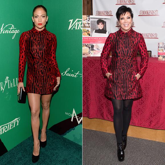 Dos mujeres un vestido, Jennifer López, Kris Jenner