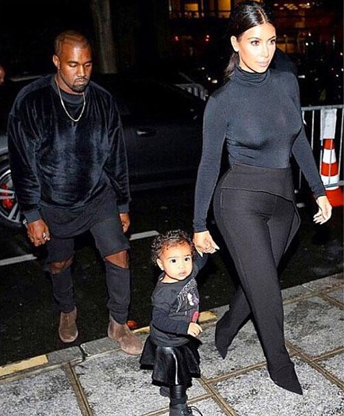 Kim Kardashian, Kanye West, north, instagram