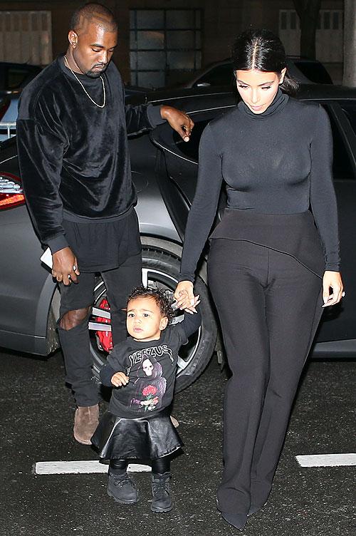 Kim Kardashian, Kanye West, North West, míralos