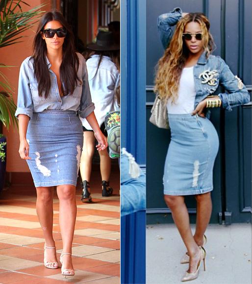 Dos mujeres un vestido, Kim Kardashian, Beyoncé