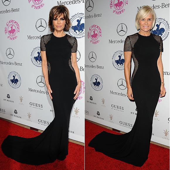 DOS mujeres un vestido, Lisa Rinna, Yolanda Foster