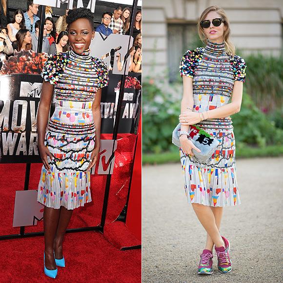 Dos mujeres un vestido, Lupita Nyong'o, Chiara Ferragni