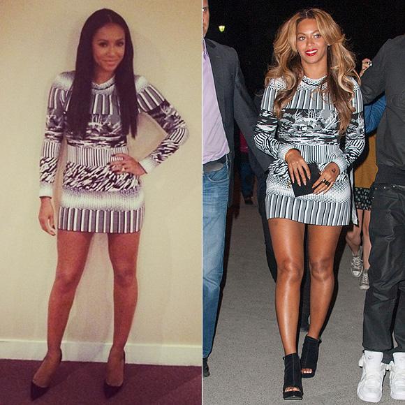 Dos mujeres un vestido, Mel B, Beyoncé