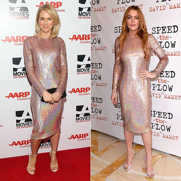 Dos mujeres un vestido, Naomi Watts, Lindsay Lohan