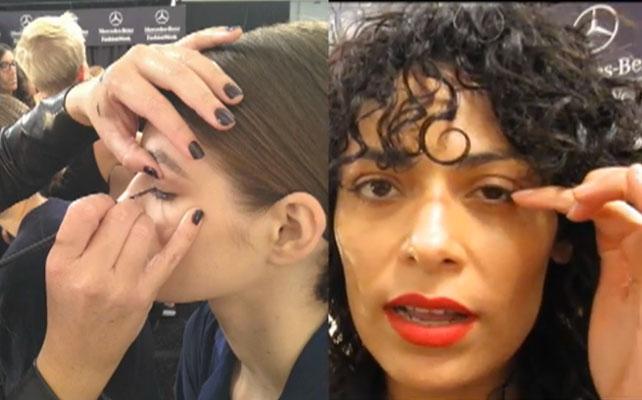 Tadashi Shoji, Semana de la Moda, Nueva York, Backstage, Maquillaje