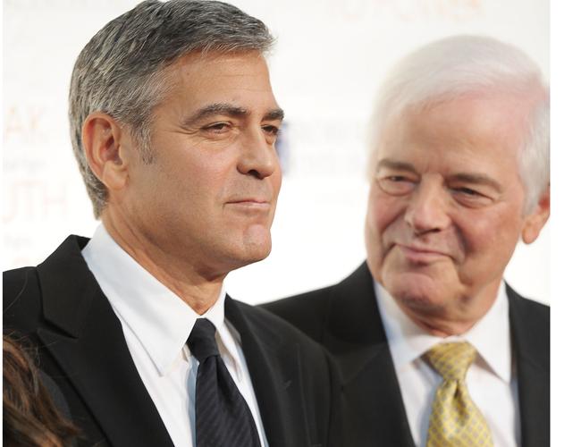 George Clooney y su papá Nick Clooney