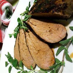Filetes de cerdo estilo griego