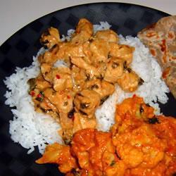 Pollo al curry de las cuatro estaciones