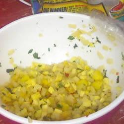 Salsa picante de mango y durazno
