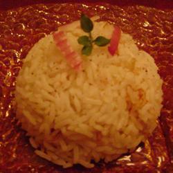 Arroz pilaf con cebolla morada