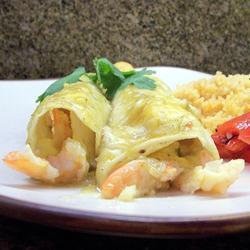 Enchiladas de camarón y cangrejo