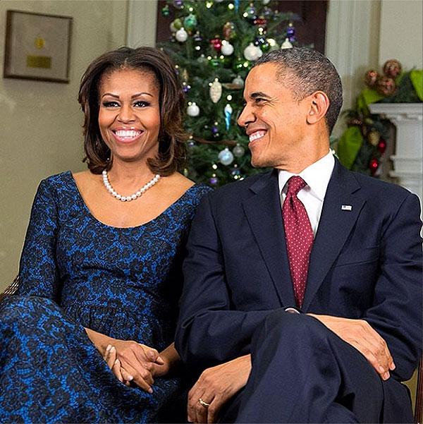 Michelle Obama, Barack Obama, Navidad