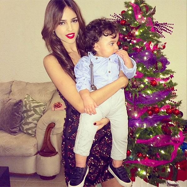Navidad, famosos, 2013, Eiza González, Luca, sobrino