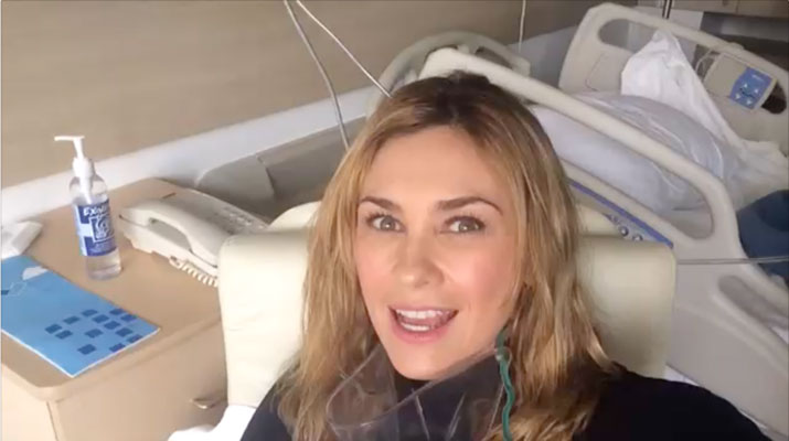 Aracely Arámbula video exclusivo salida del hospital