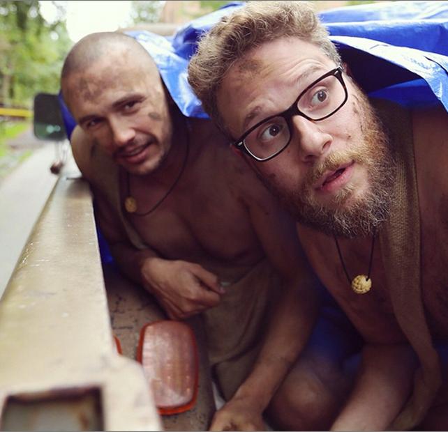 James Franco y Seth Rogen, desnudos en Instagram.
