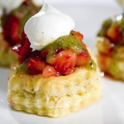 Tartaletas de fresa y kiwi