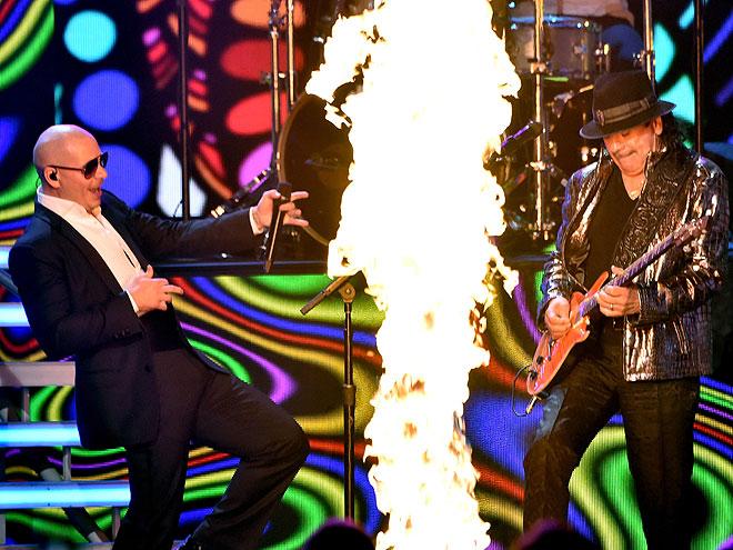 Pitbull, Carlos Santana, Latin Grammy 2014