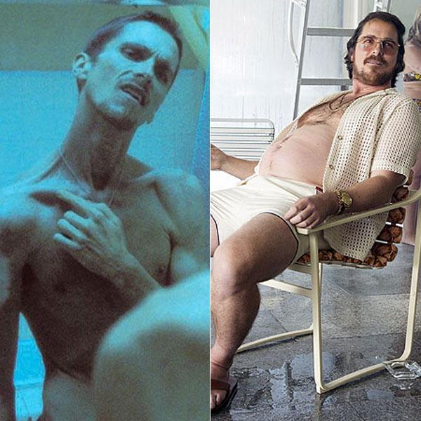 Christian Bale, Actores que alteraron su peso