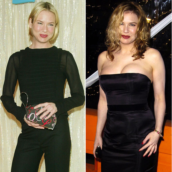 Renée Zellweger, Actores que han alterado su peso