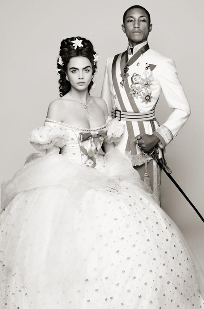 Pharrell Williams y Cara Delevingne