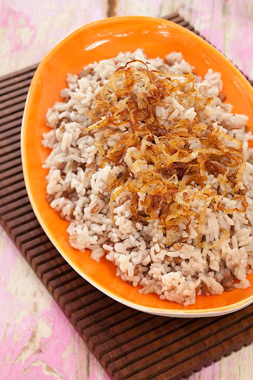 Recetas, invierno, lentejas, arroz