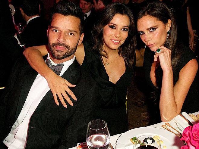 Ricky Martin, Eva Longoria, Victoria Beckham, Míralos