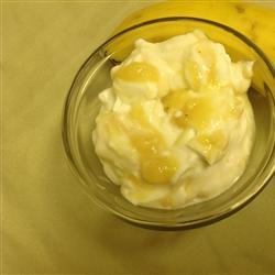 Yogurt casero con plátano