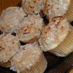 Cupcakes de vainilla con betún de coco