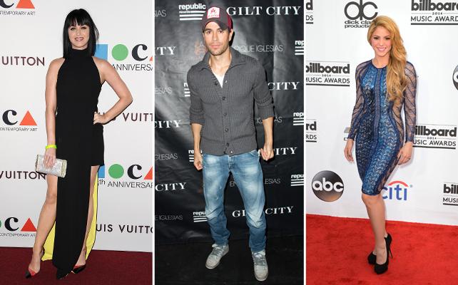 Katy Perry, Enrique Iglesias y Shakira