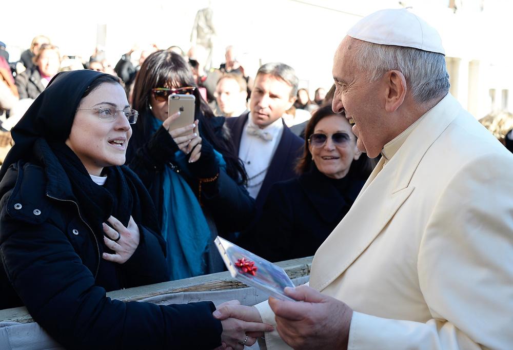 Cristina Scuccia y Papa Francisco