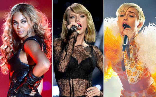 Beyonce, Taylor Swift y Miley Cyrus
