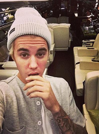 Justin Bieber, avión