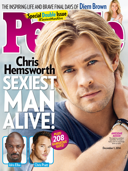 Chris Hemsworth, FAMOSOS AGRADECIDOS