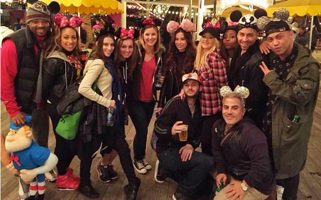 Christina Aguilera en Disneyland de Los Ángeles