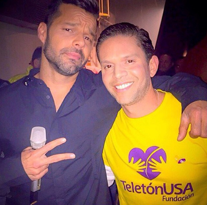 Ricky Martin y Rodner Figueroa, Redes