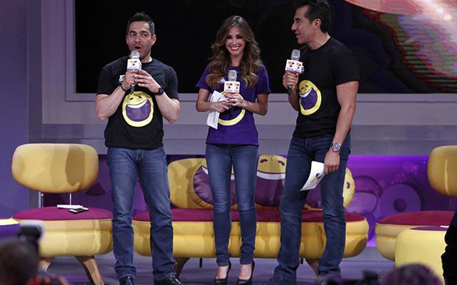 Adrián Uribe, Anahí y Omar Chaparro