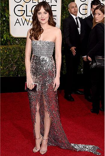 Golden Globes 2015 Ellas, Dakota Johnson