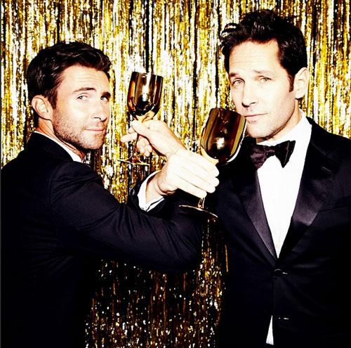 Adam Levine, Paul Rudd, Globos de Oro 2015