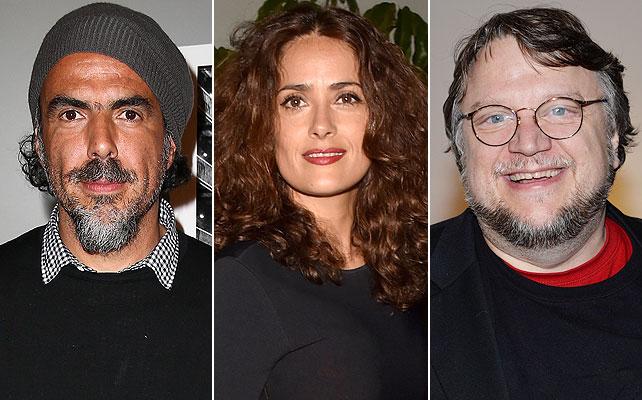 Alejandro González Iñarritu, Salma Hayek, Guillermo del Toro,